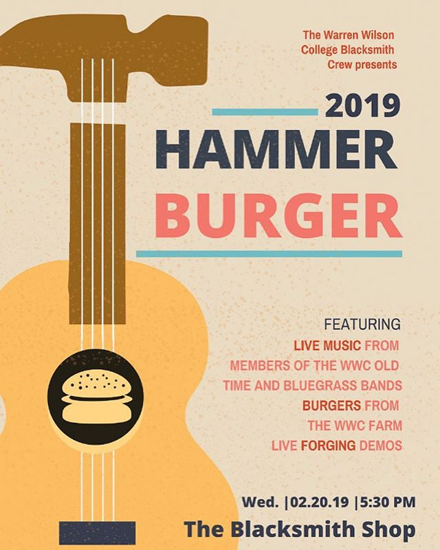 Join us for a party next Wednesday at the forge! From 5:30 to 7:30 we'll be grilling up some burgers from @wwcfarm and dancing to live music by student musicians! Come and get to know our crew and our shop and learn about what we do! See you there!
