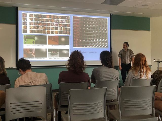 We are so proud!! Eli presented his capstone on neural networks this morning! #mathsmithing