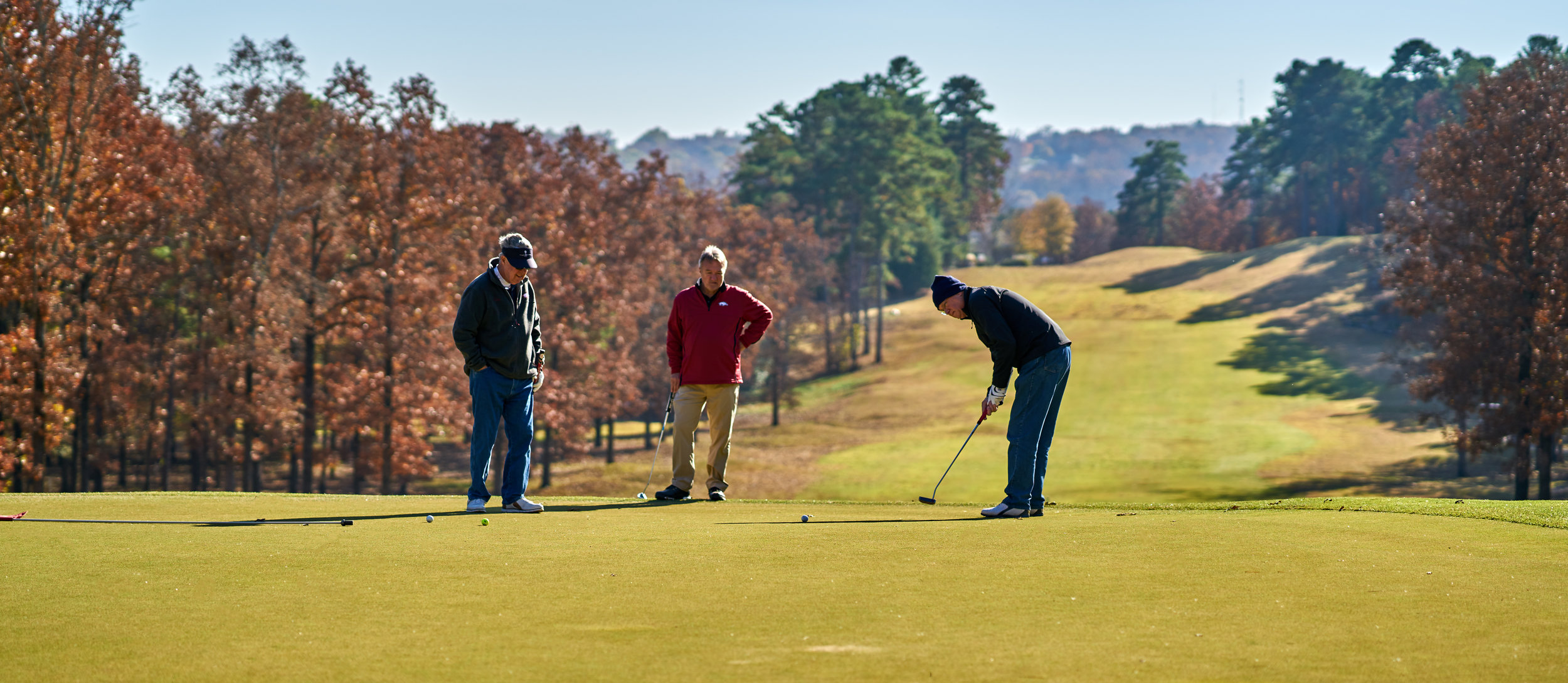 Recreational amenities are important elements in quality of life, such as this golf course in Cabot.