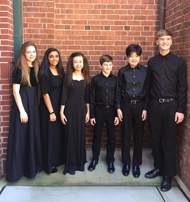 2019 All State Chorus students: Shayna Suddeth, Rithu Hegde, Kiana Castellano, Spencer Banko, Yuta Aoki, and Dawson Foreman