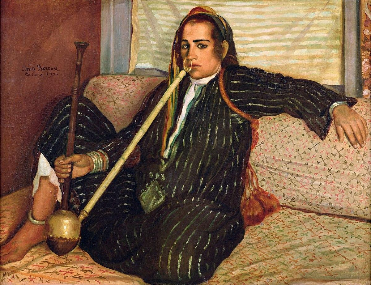 "Emile Bernard, "" Smoking Hashish ,"" 1900, oil on canvas."