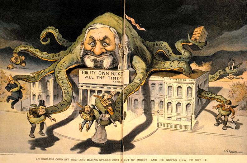 Political corruption ain't nothing new, as seen in J.S. Pughe's 1901 take on Tammany Hall.
