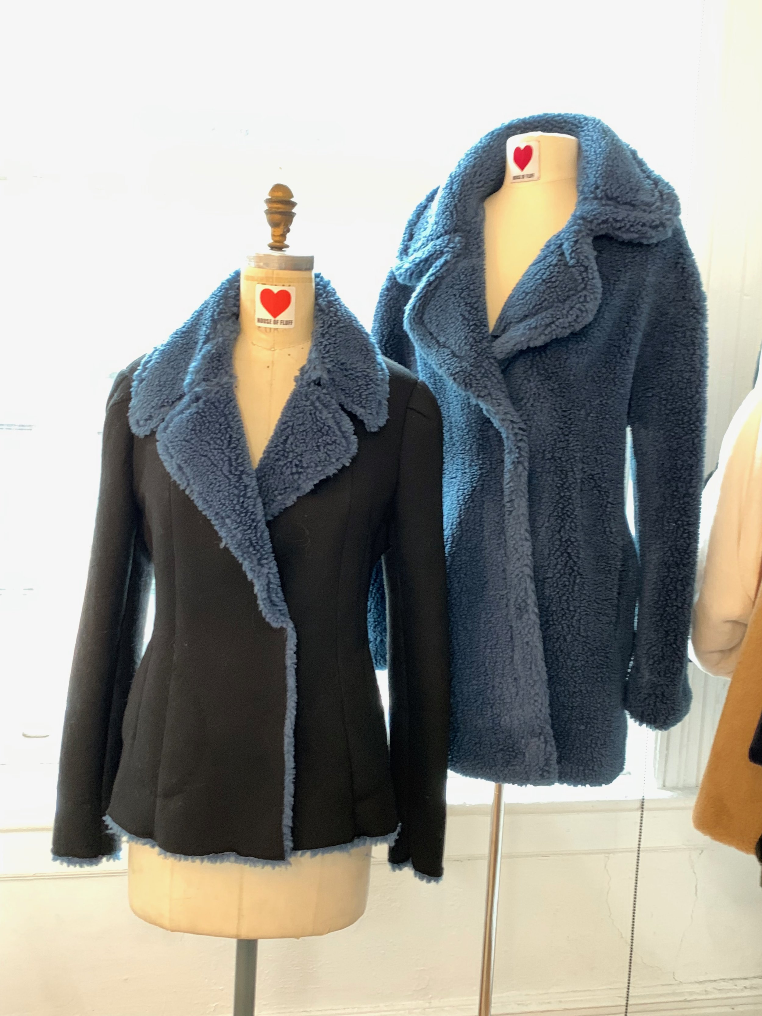These chic fitted jackets made from ocean plastic and other recycled materials.