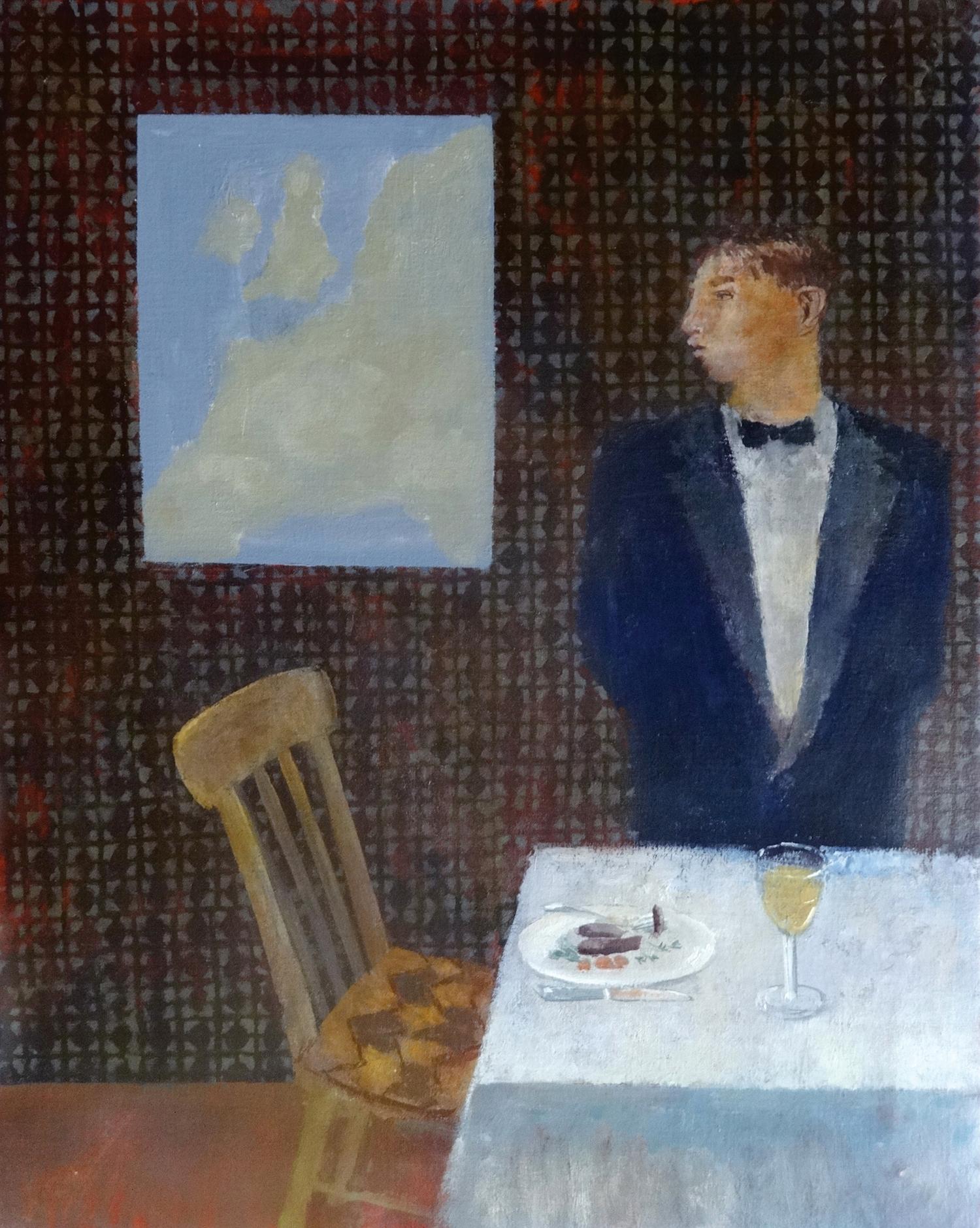 Waiter,  oil, 66x51cm