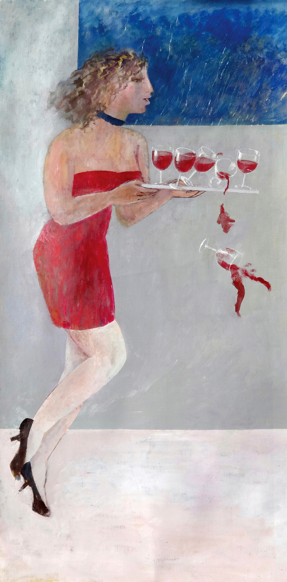 Wrong Footed , oil, 220x110cm