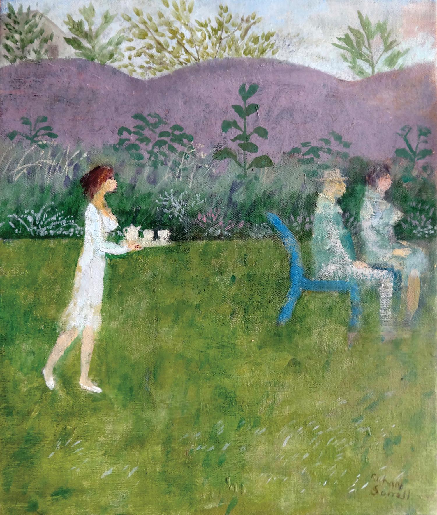 Tea Garden , oil, 43x37cm