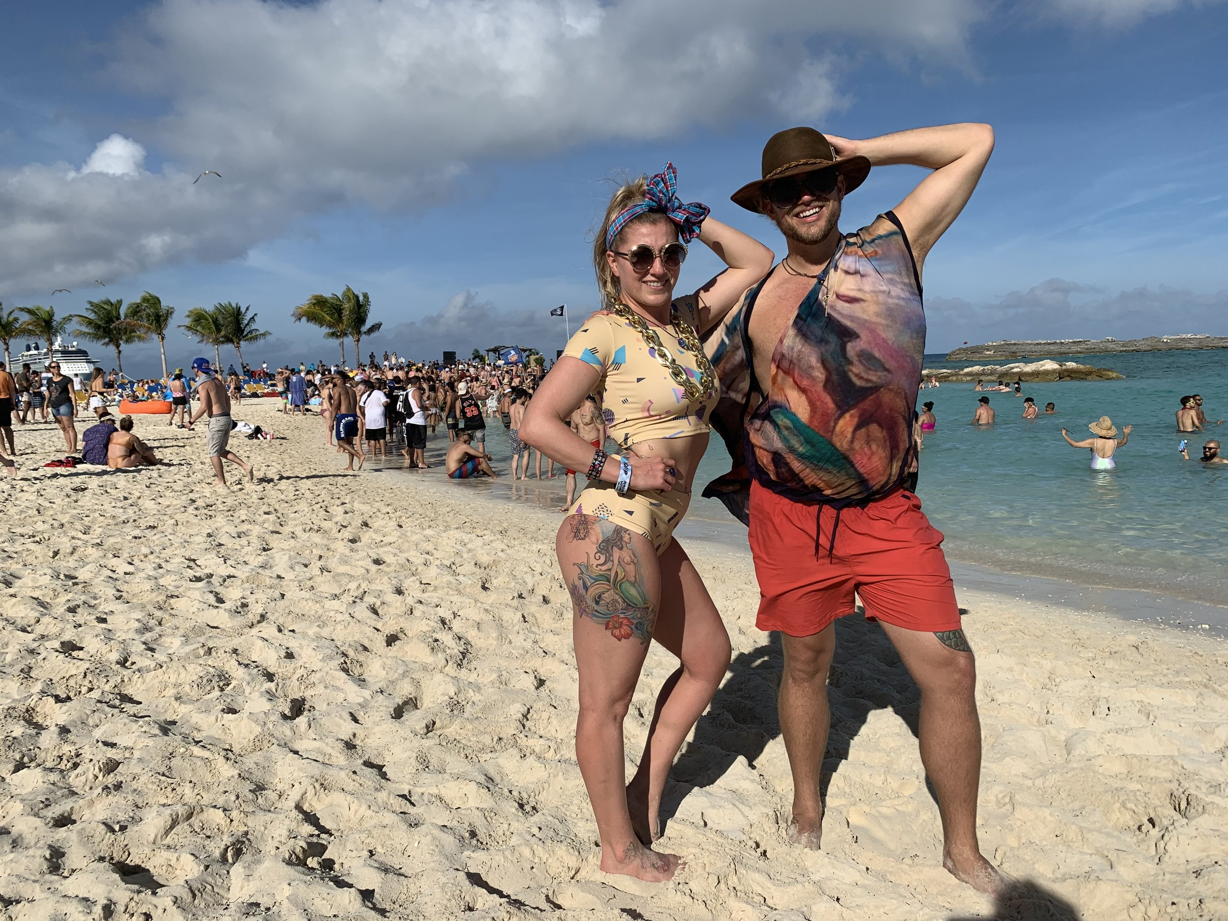 Jonah and Brittany in the Bahamas on the Friendship Festival Cruise!.