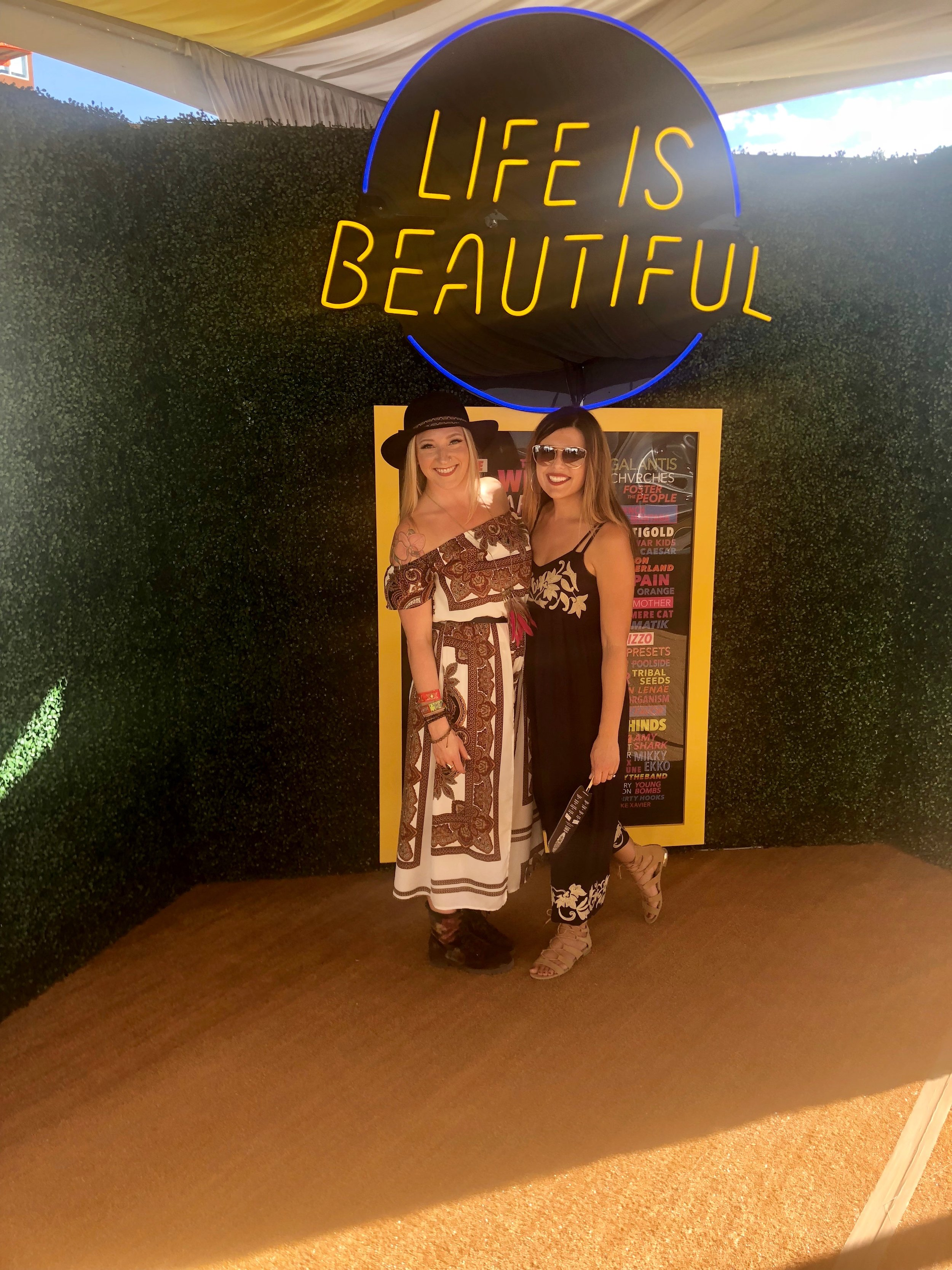 Brittany and Amber at Life is Beautiful Festival in downtown Las Vegas.