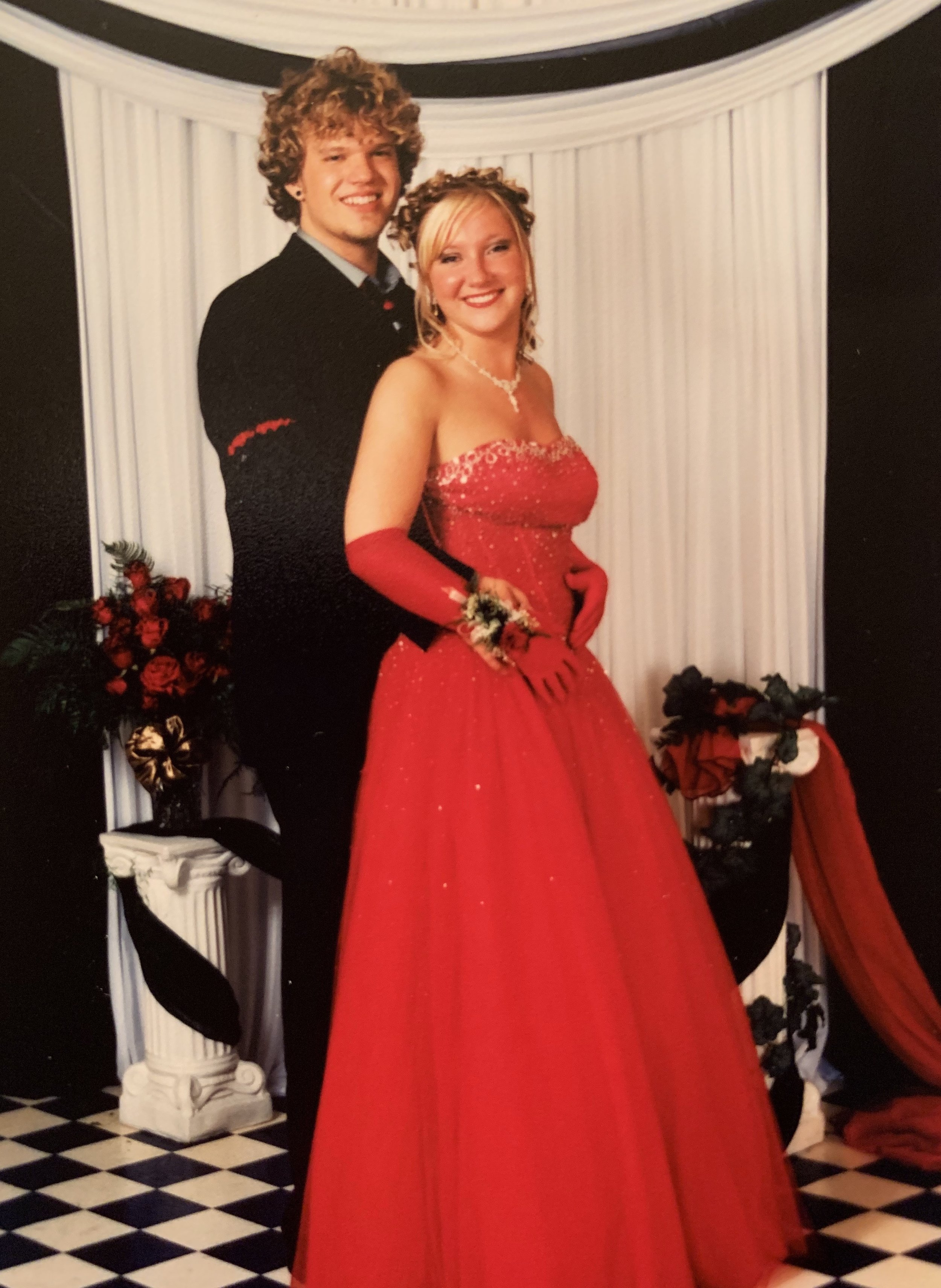 Brittany and Jonah's first date: Brittany's High School Prom in 2005