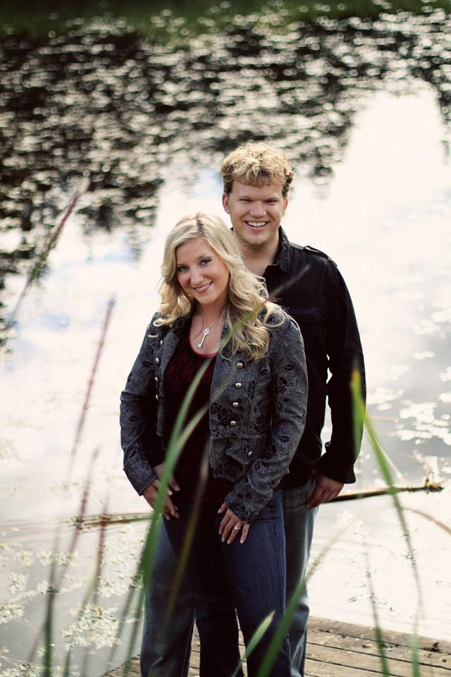 Brittany and Jonah's engagement photo at King Estate Winery in 2010.