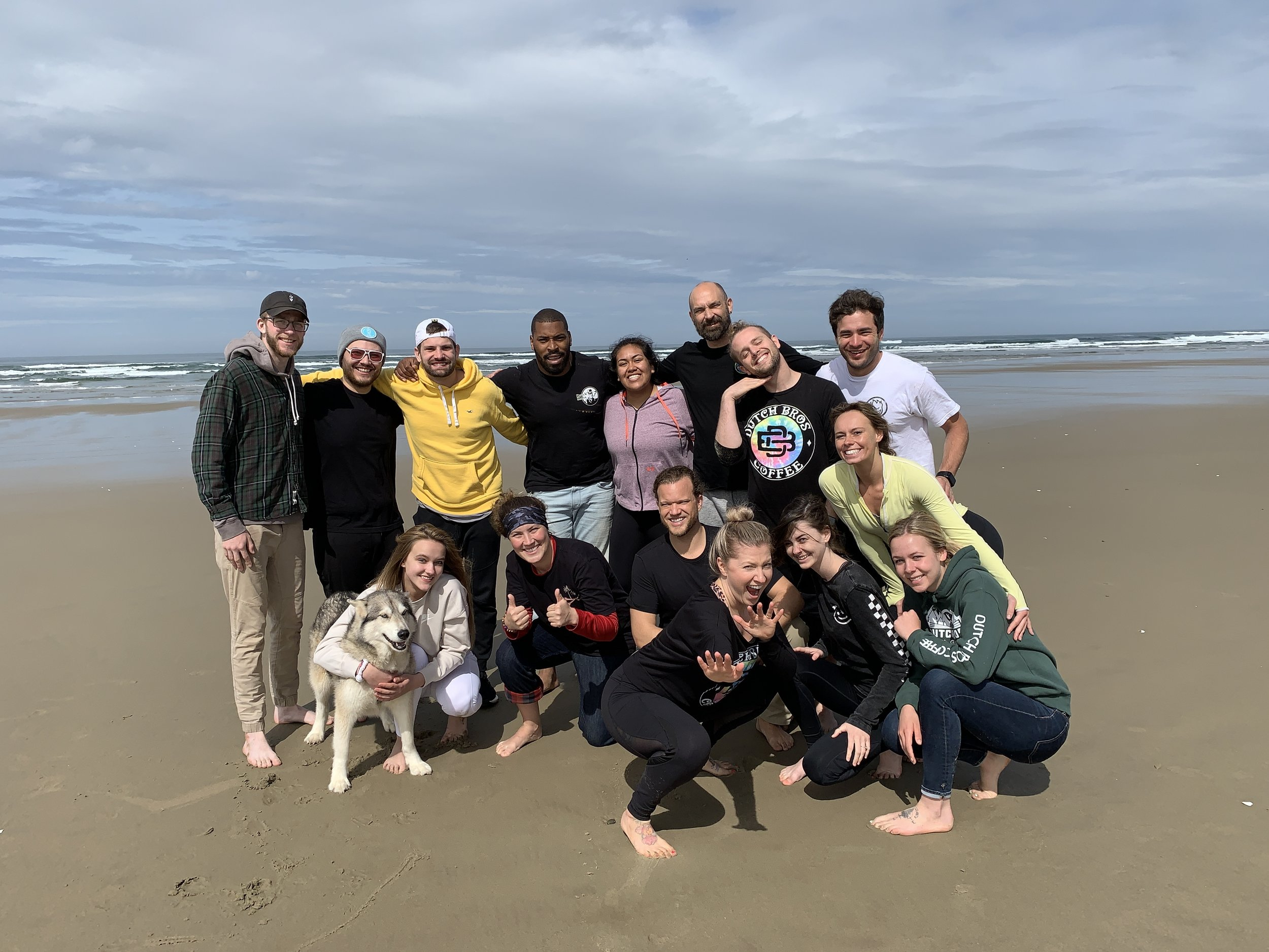 Our Earth Day beach clean up crew!