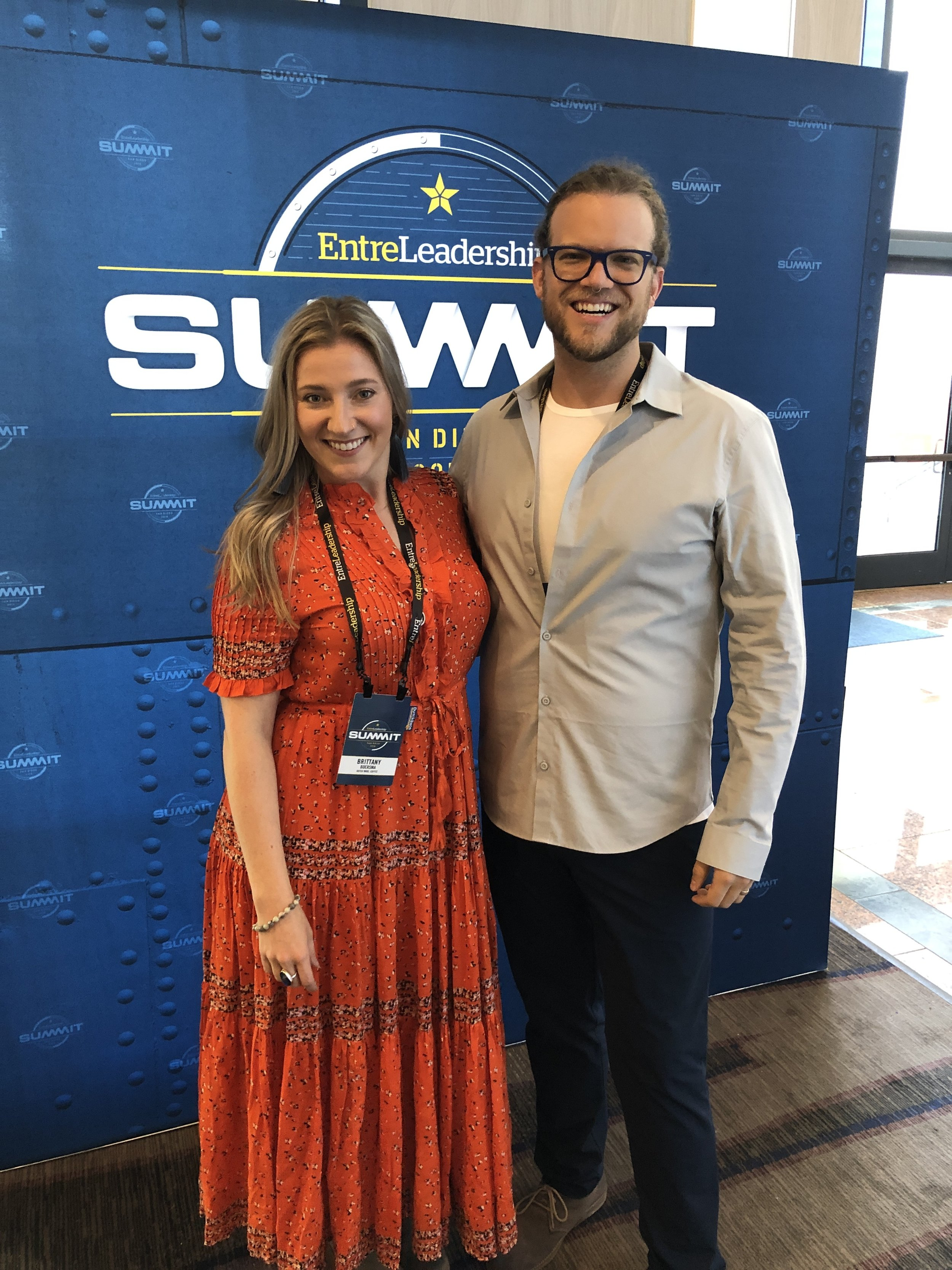 Brit and Jonah at the EntreLeadership Summit 2019 in San Diego!
