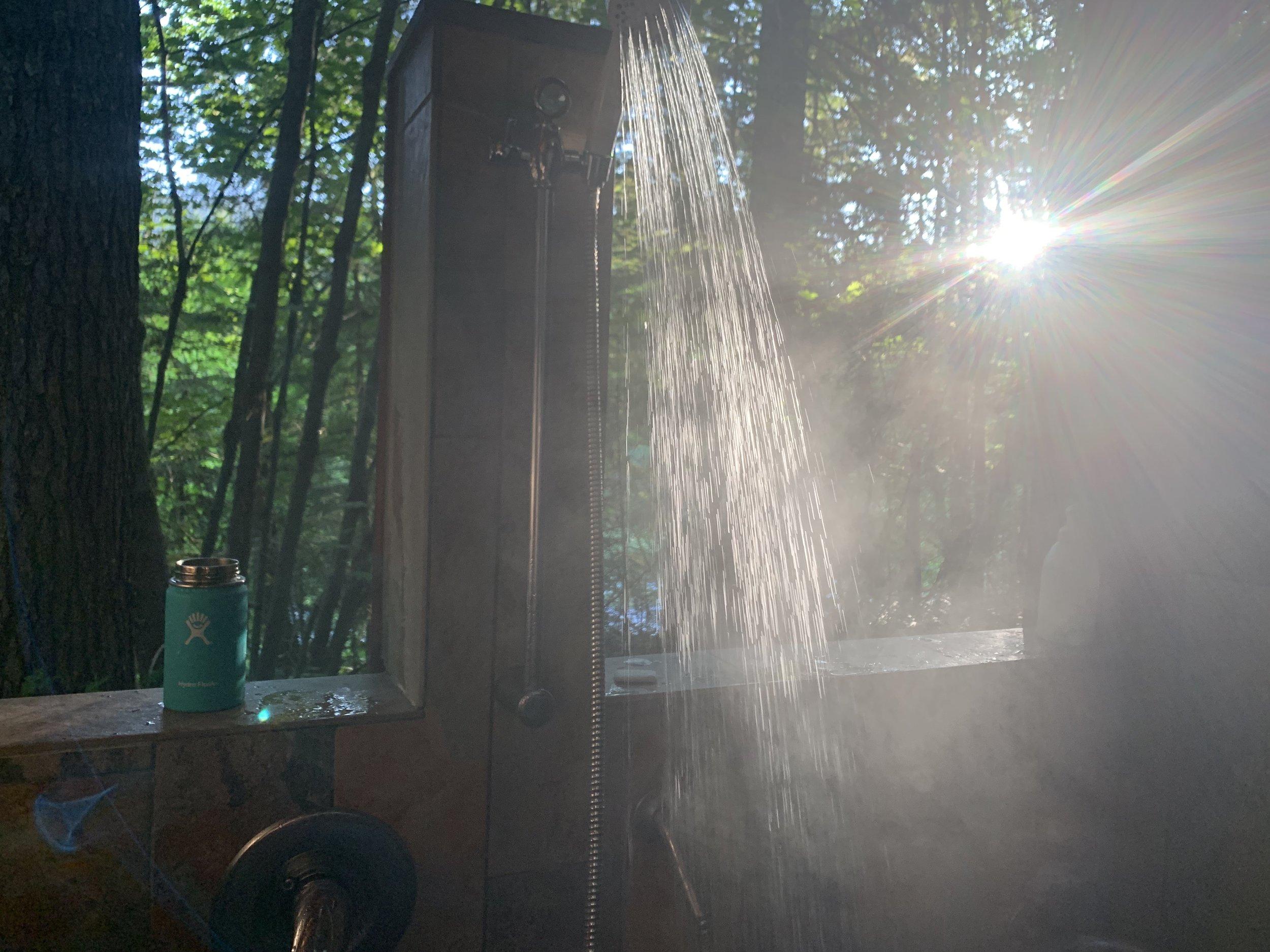 Breitenbush Hot Springs' gorgeous outdoor shower!