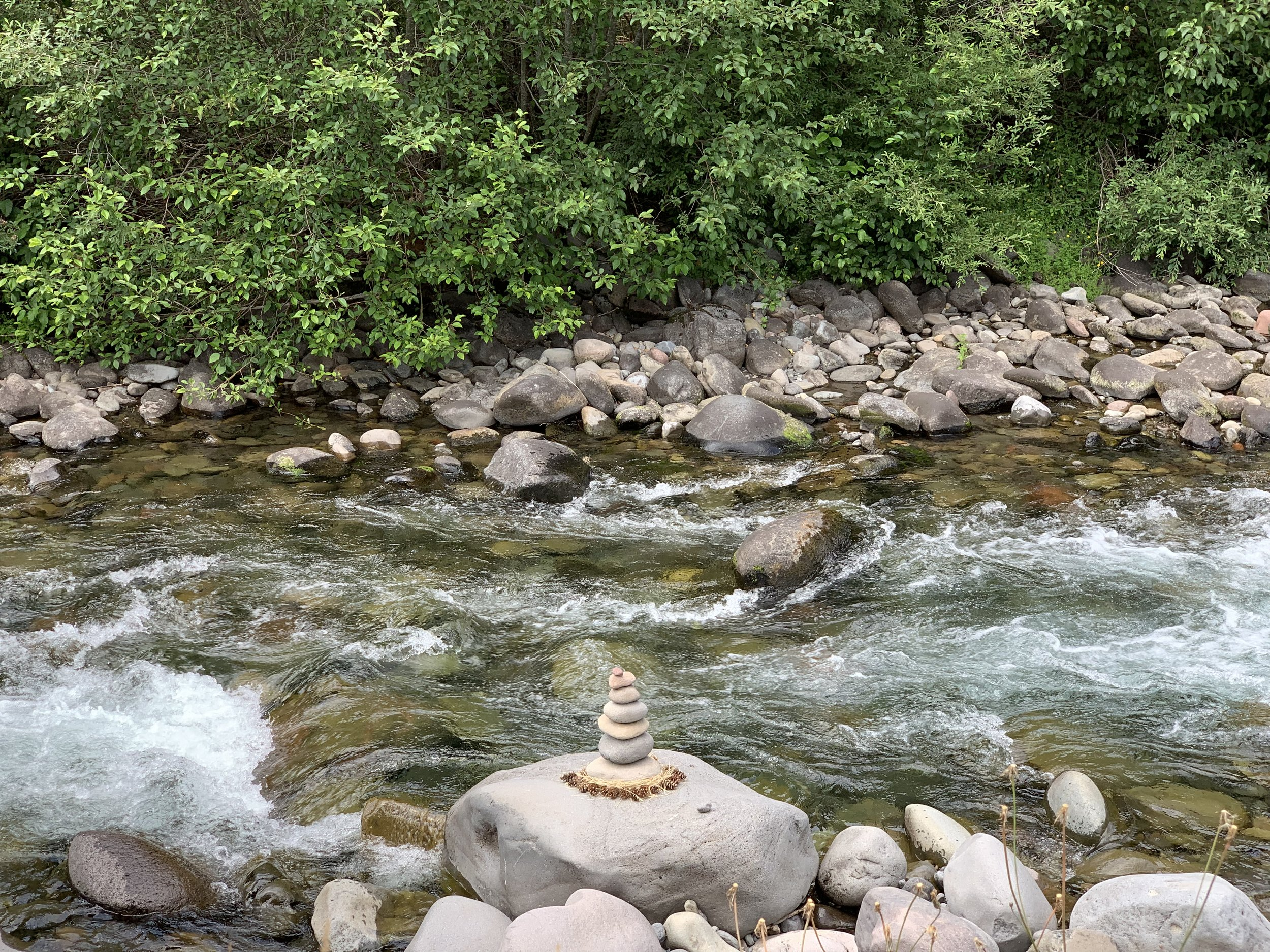 One of many cairns found on the Breitenbush property. A symbol of balance, simplicity, spirituality, peace, prayer, patience, direction, priority, and play.