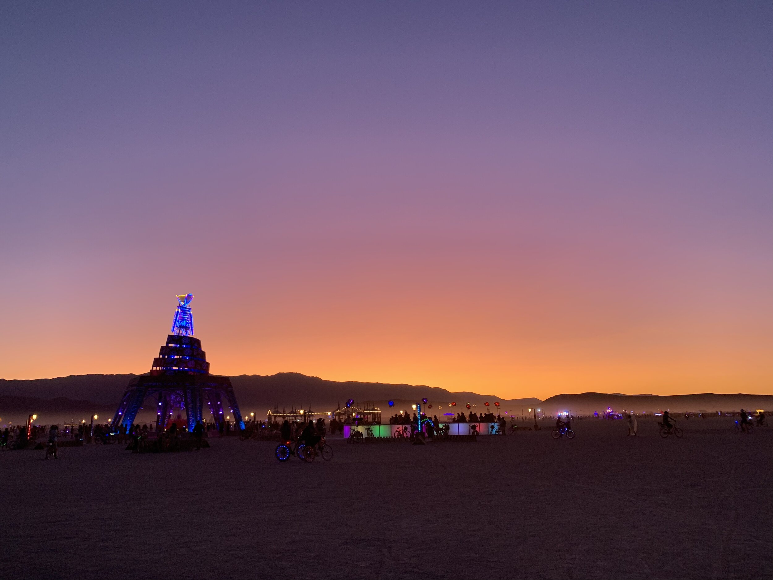 The sunrises and sunsets at Burning Man are not to be missed!
