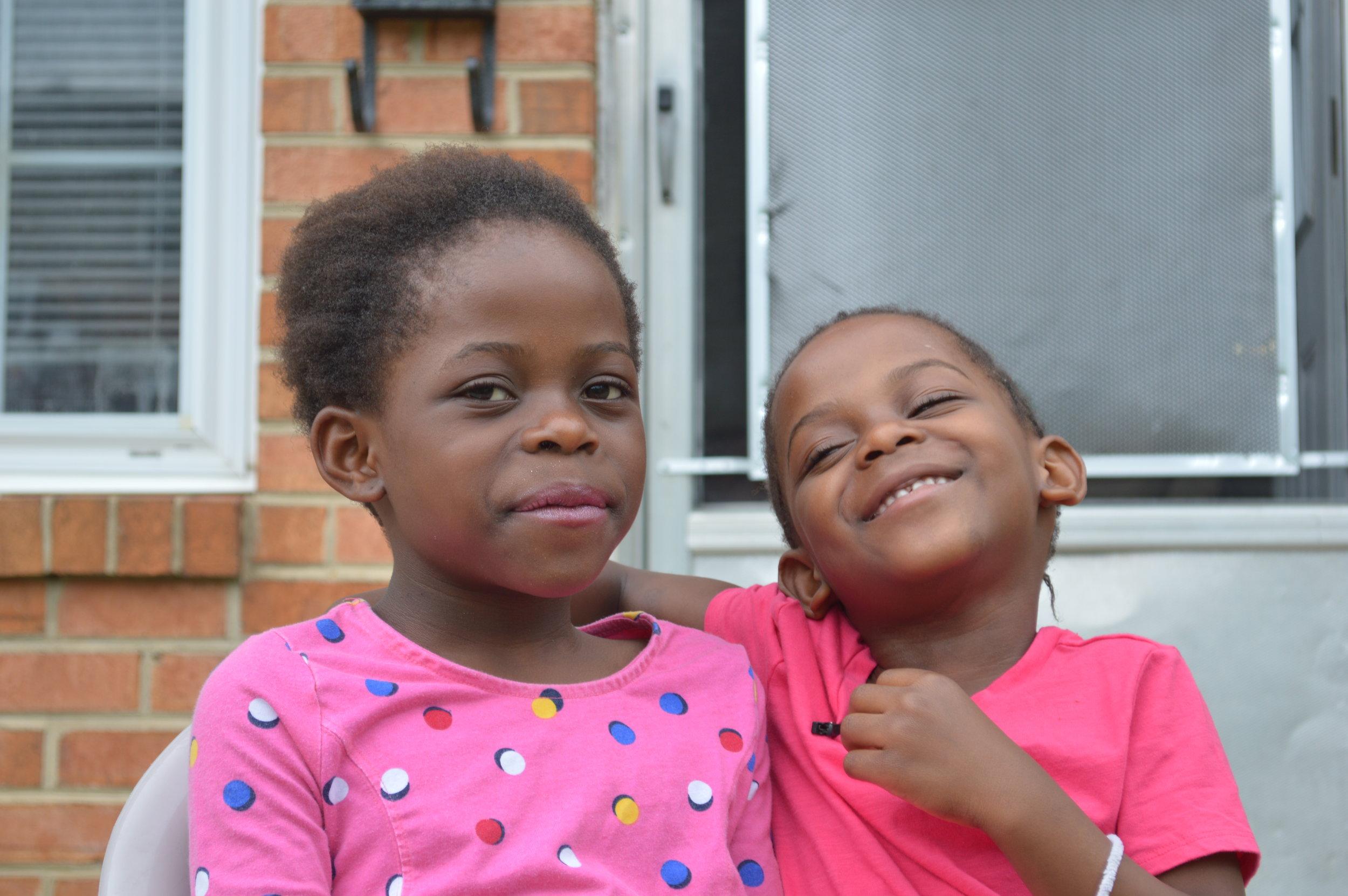 Neema, 8, and Hasha, 6