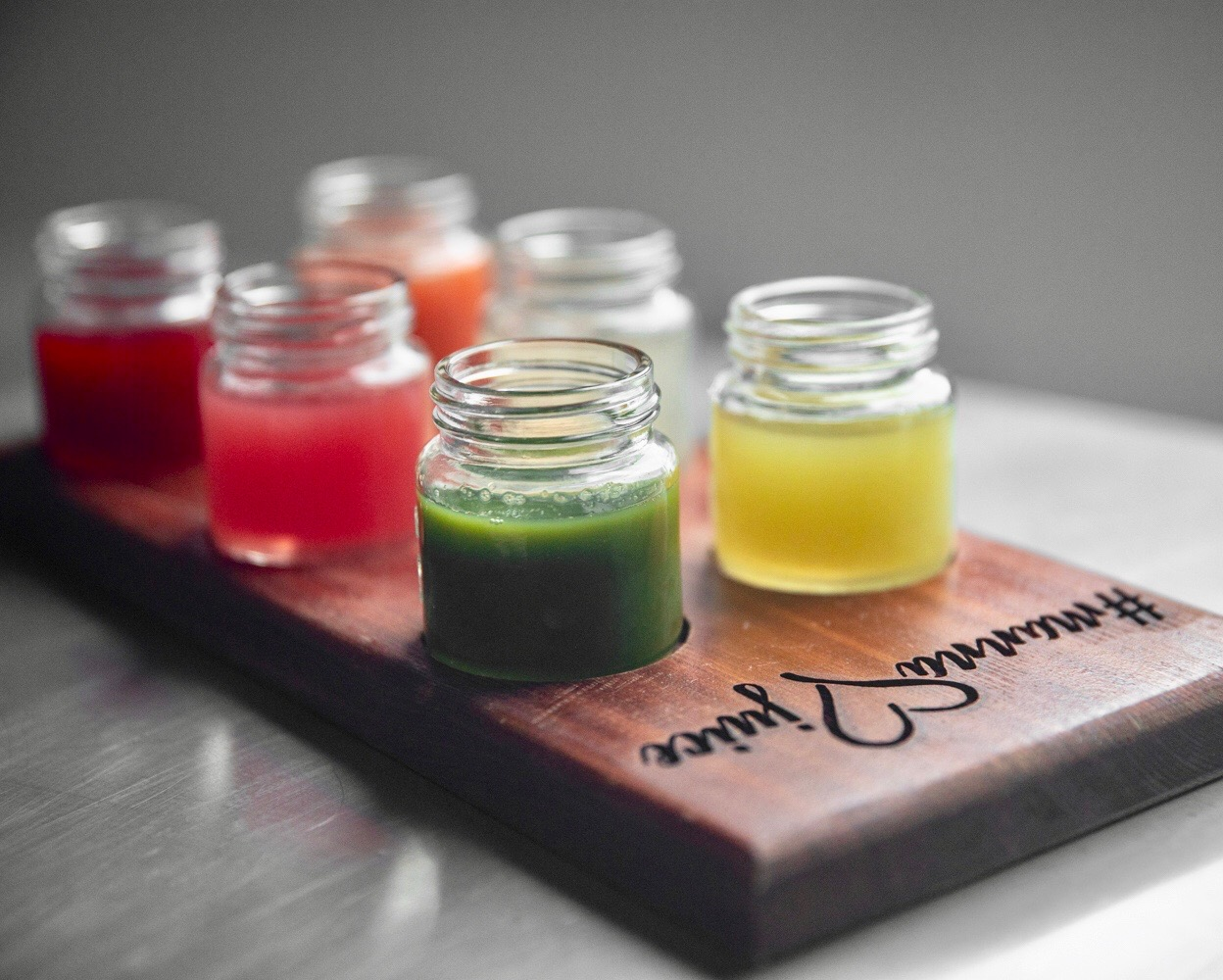 FIVE DOLLAR FLIGHT FRIDAYS! PICK ANY SIX JUICES/MYLKS TO SAMPLE IN STORE!
