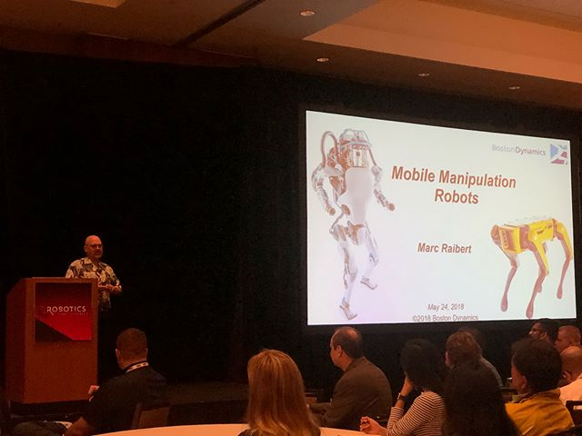 Getting inspired at Robotics Summit. @robotics_summit #robotics_summit #roboticssummit #roboticssummit2018 #bostondynamics #bostondynamicsspot