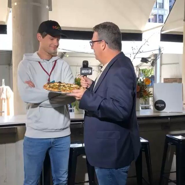 All interviews should be done with pizza in hand. Thanks @rogerclark41 @ny1 @unionsquareny for the feature this morning. Don't miss our exclusive pizza for Harvest in the Square (watch the vid for the full ingredient list)! Serving up tonight 6-9 pm tickets at harvestinthesquare.nyc. All proceeds benefit our backyard (Union Square Park). #USQHarvest #pizza #eeeeeats #unionsquareny #unionsquare