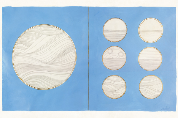 Silverpoint, acrylic, gold leaf on parchment, 2008