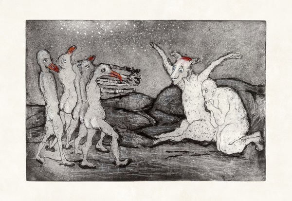 Ethcing reproduced as glicée print on parchment, 2015