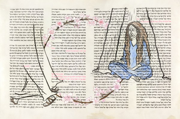 Linocut & Scribal ink on parchment, 2008