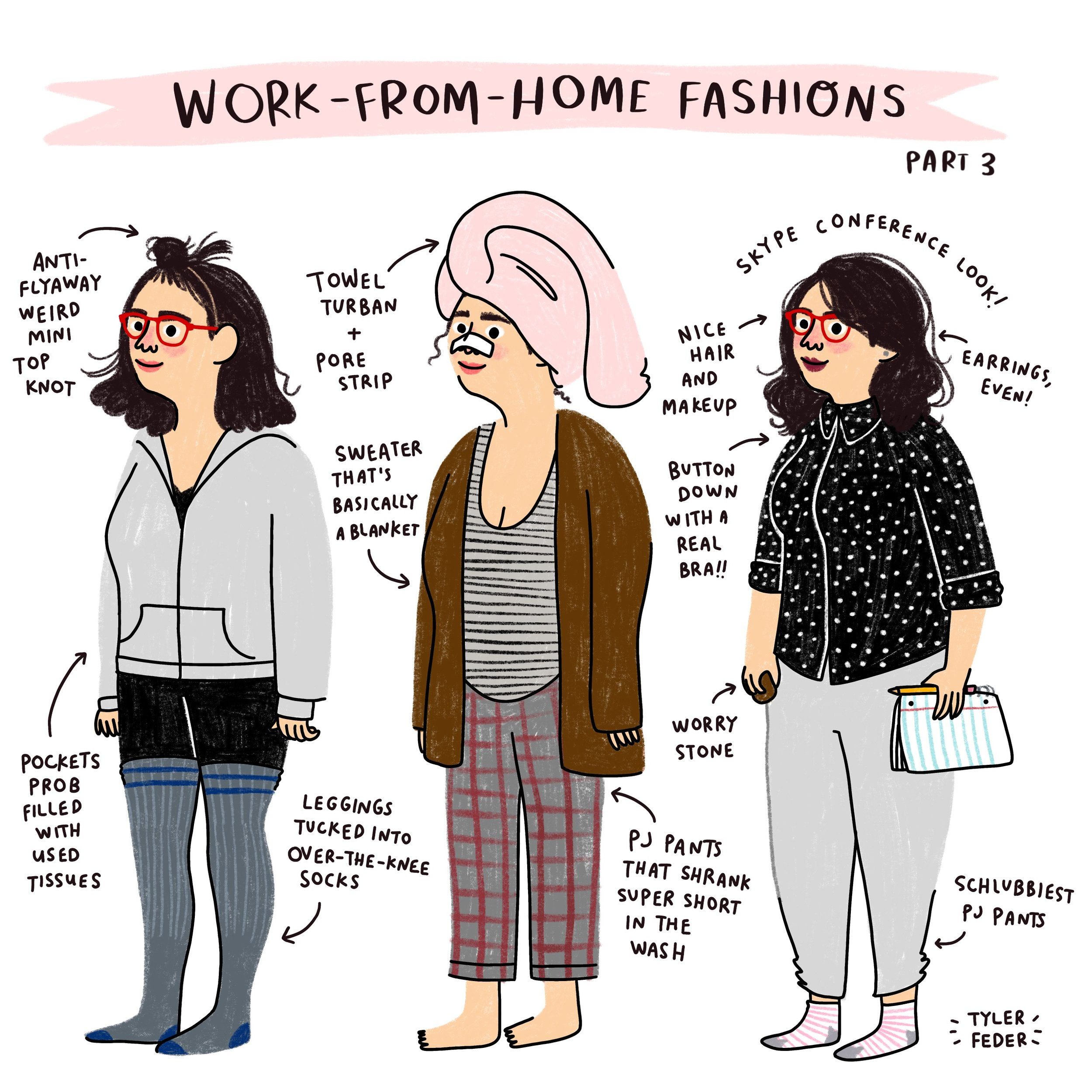 Work From Home Fashions Tyler Feder