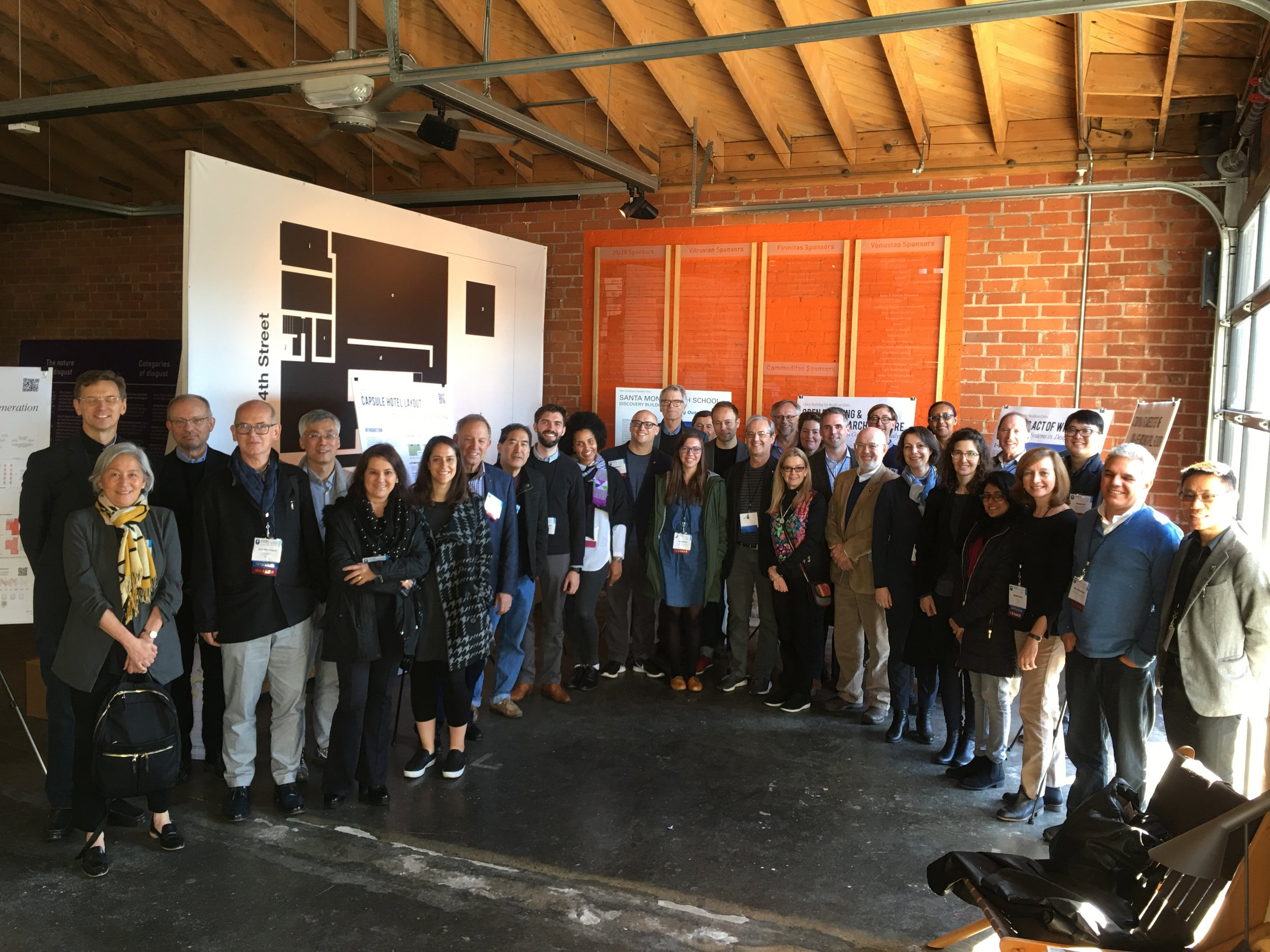 Participants at Open Building for Resilient Cities conference, Los Angeles 2018.jpeg