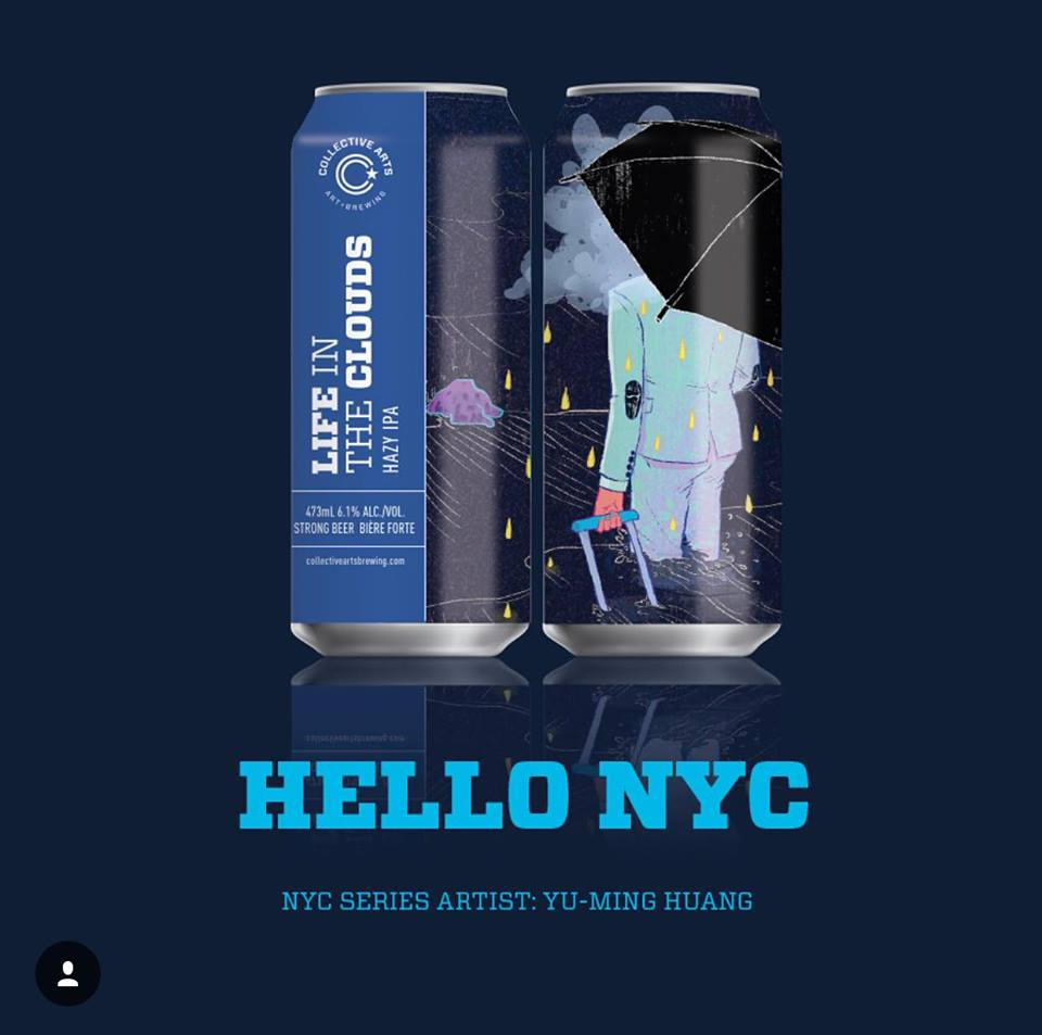 Collective Arts Brewing Can Illustration