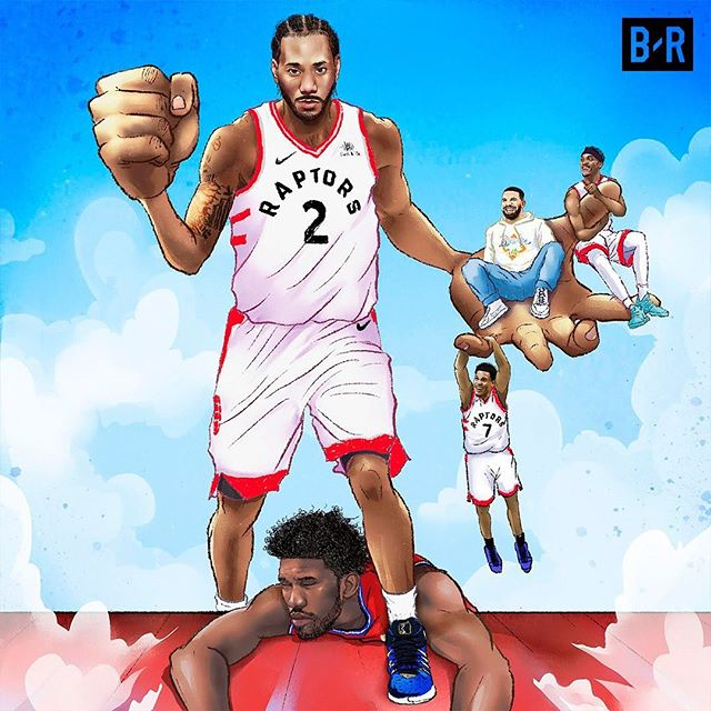 The buzzer beater was insane!! Kawhi carries Toronto to the EXF and also carries my art to publish! Illustration for @bleacherreport  Thanks to Paker and his team for bringing in me this assignment with cool ideas!  天啊!這絕殺太誇張了!我以為要沒機會Po了!感謝可愛carry了暴龍和我的這張畫! XD  #ownthefuture #kawhileonard #raptors #illustration #illustrator #art #artwork #toronto #torontoraptors #basketball #sneakers #newbalance #nyc #newyork #hoop #freak #插畫 #nba #nbaart #branding #socialmedia #editorialillustration #editorial #raptorsnation