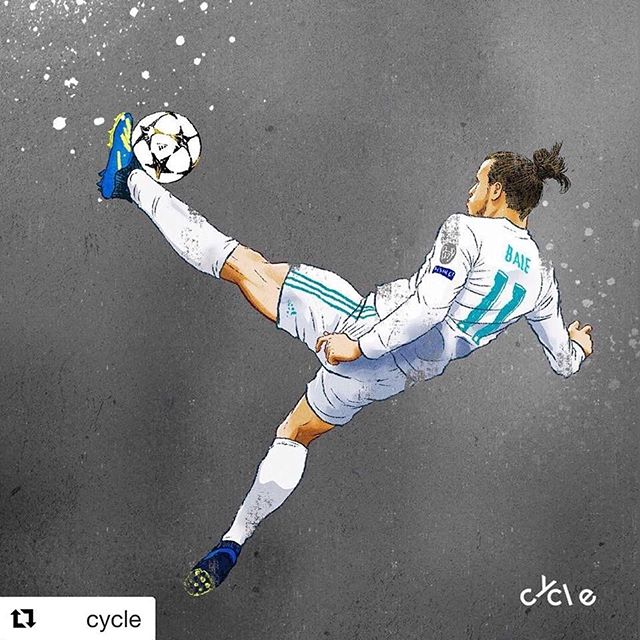 A year ago, this epic kick by @garethbale11 @realmadrid ! @championsleague  Many thanks to @wavy_walia for the art direction and opportunity.🙏 #插畫 #藝術 #art #illustration #illustrator #football #brfootball #realmadrid #garethbale #concept #sport #portrait #championsleague #portfolio #editorialillustration #advertising #promotion #adagency #designagency #illustrationagency #artdepartment #soccer #graffiti