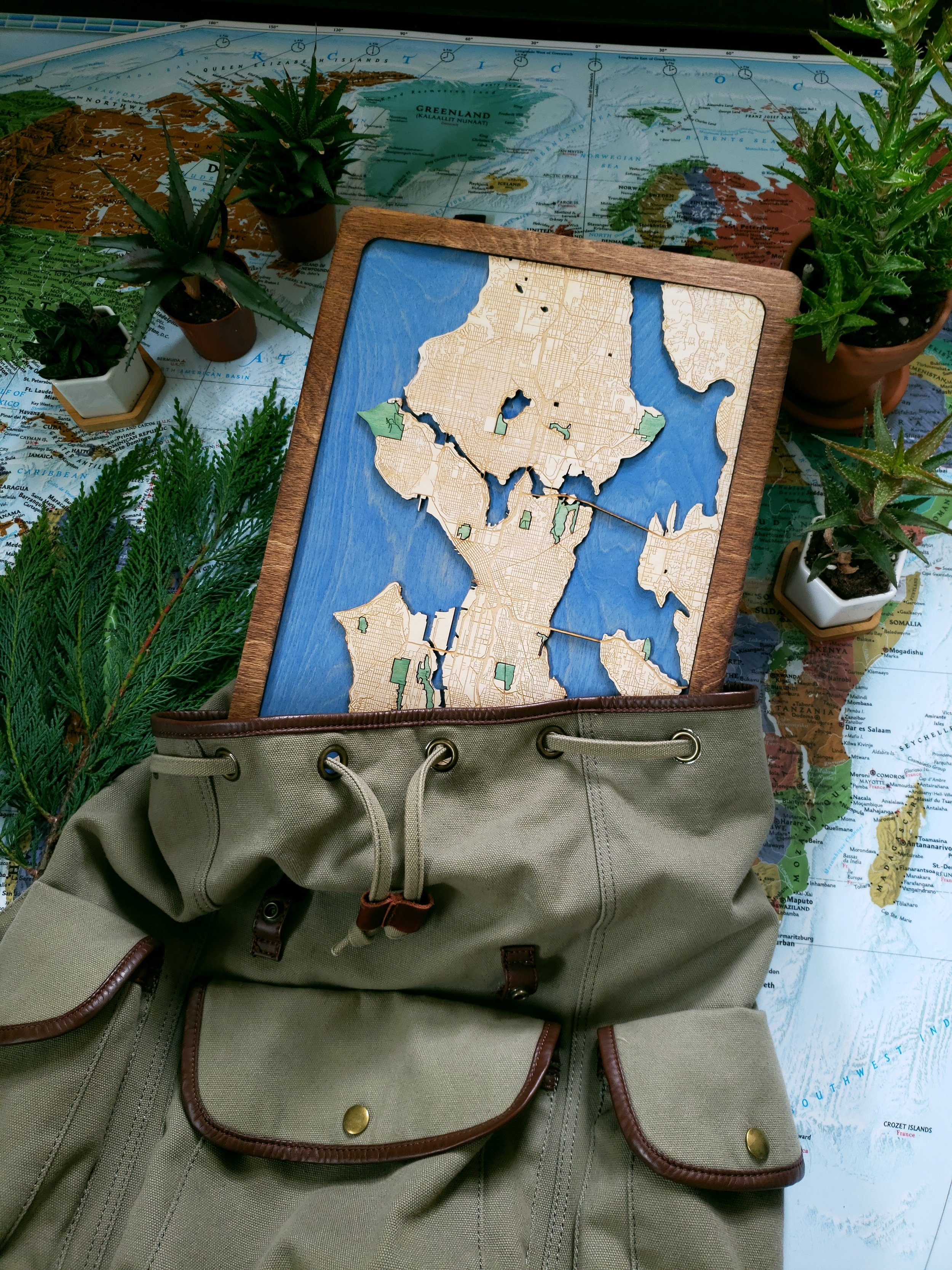 Seattle Wood Map