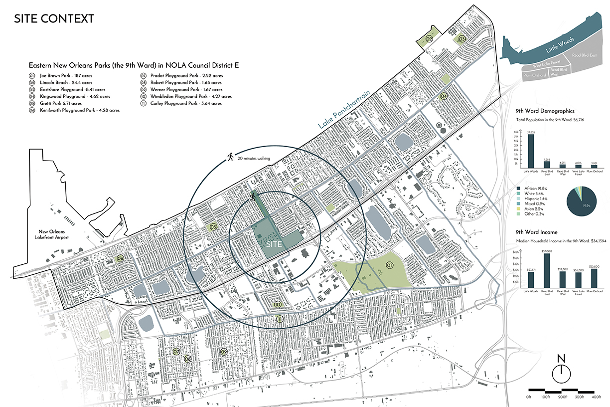 Context map - Little Woods neighborhood