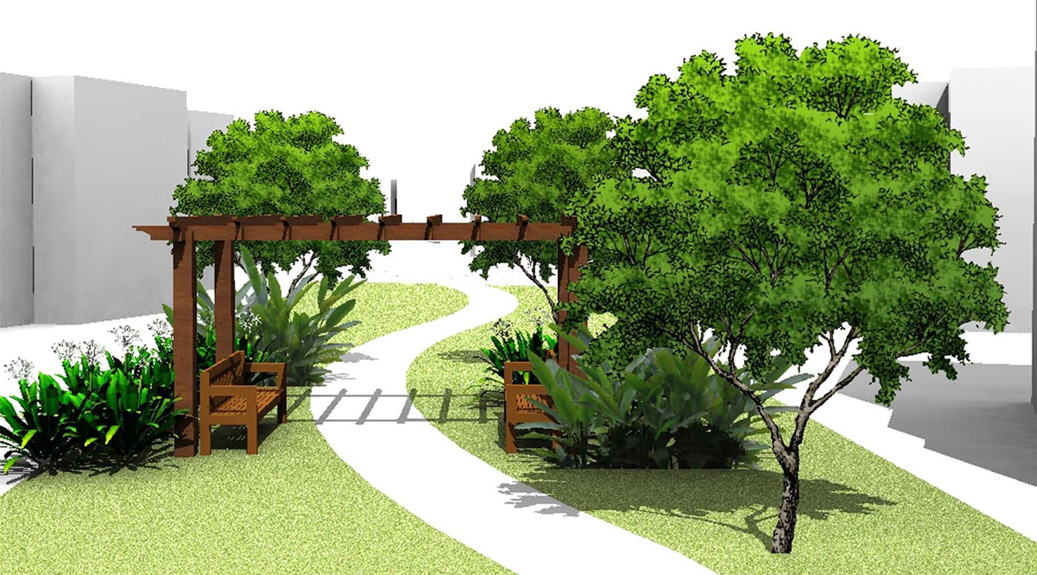Lincoln Park - Pergola seating