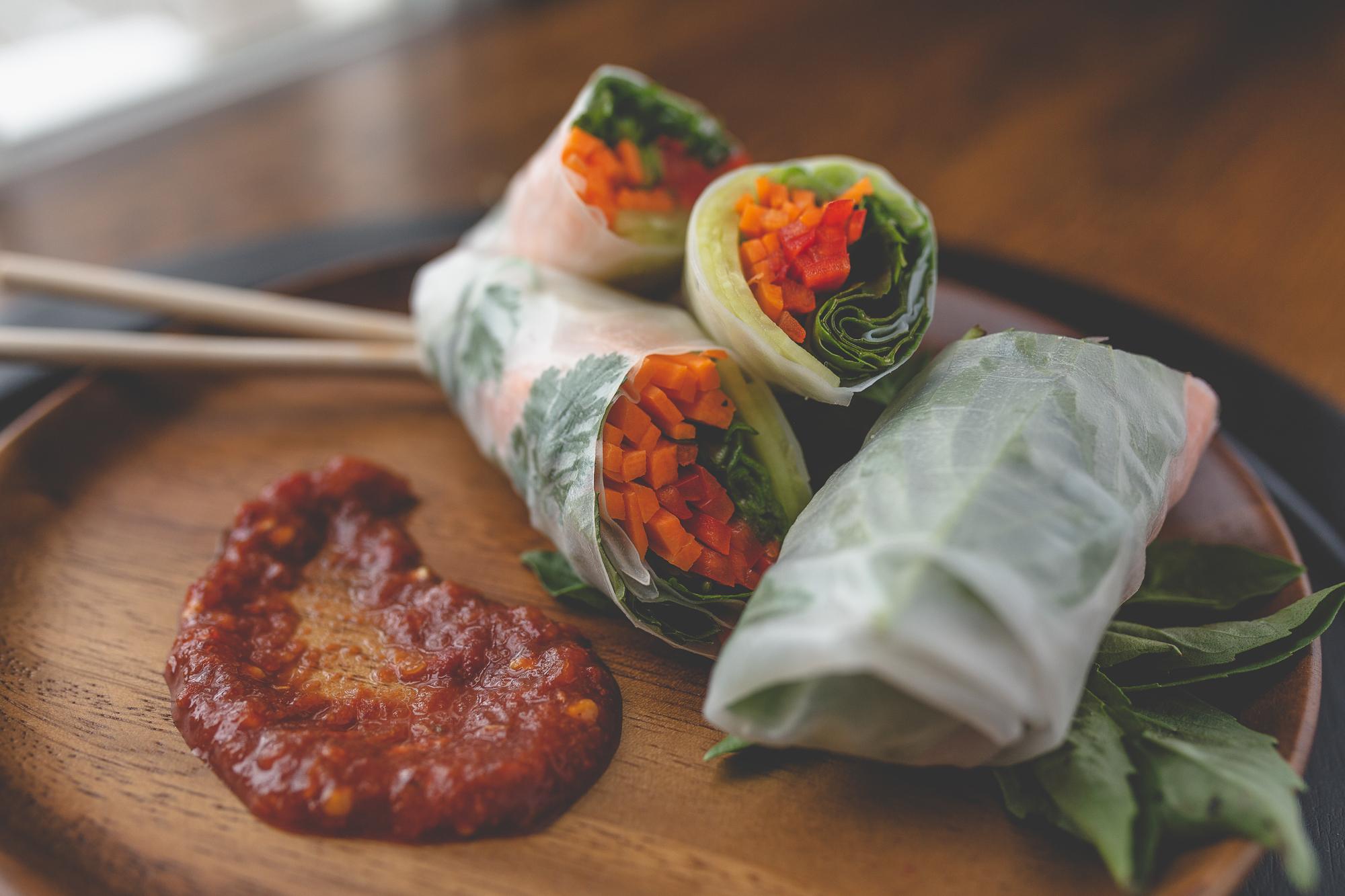 - Vegetarian Spring Rolls