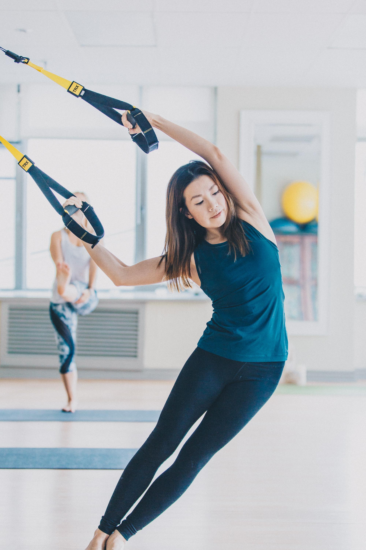 Imprint Pilates, TRX stretching, TRX Suspension training Toronto, Yoga TRX, TRX personal training