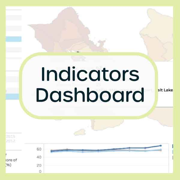 Visit our Indicators Dashboard tool to look at specific well-being data points across Hawaii communities