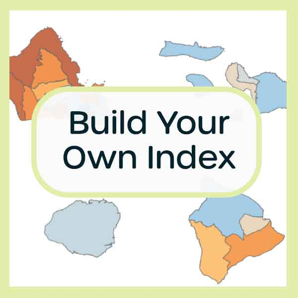 Use our Build Your Own Index tool to combine multiple well-being indicators into a single score to compare community data across Hawaii