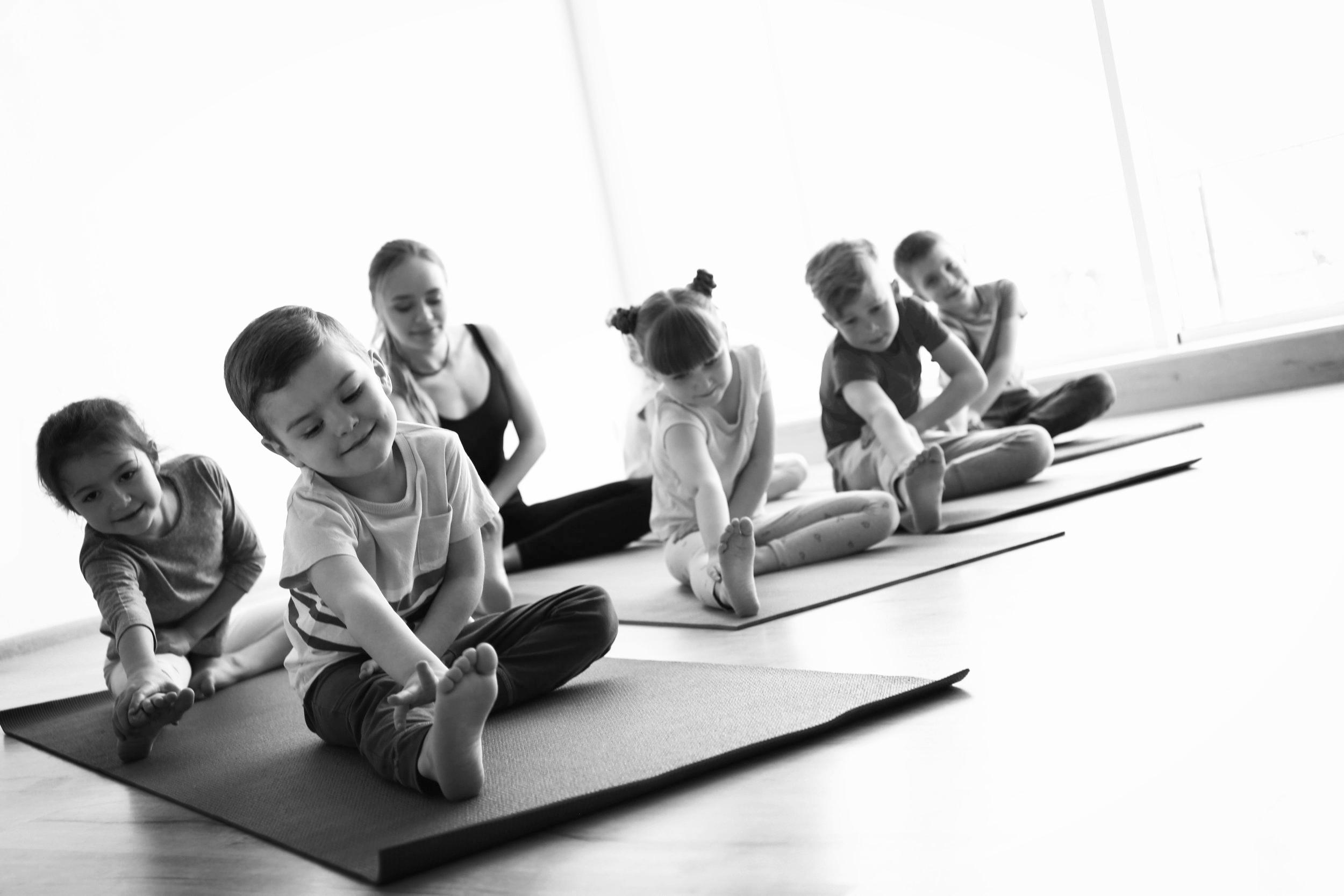 children-stretching