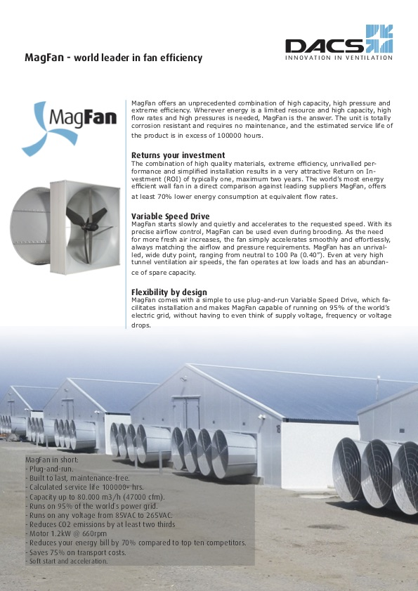MagFan Product Information