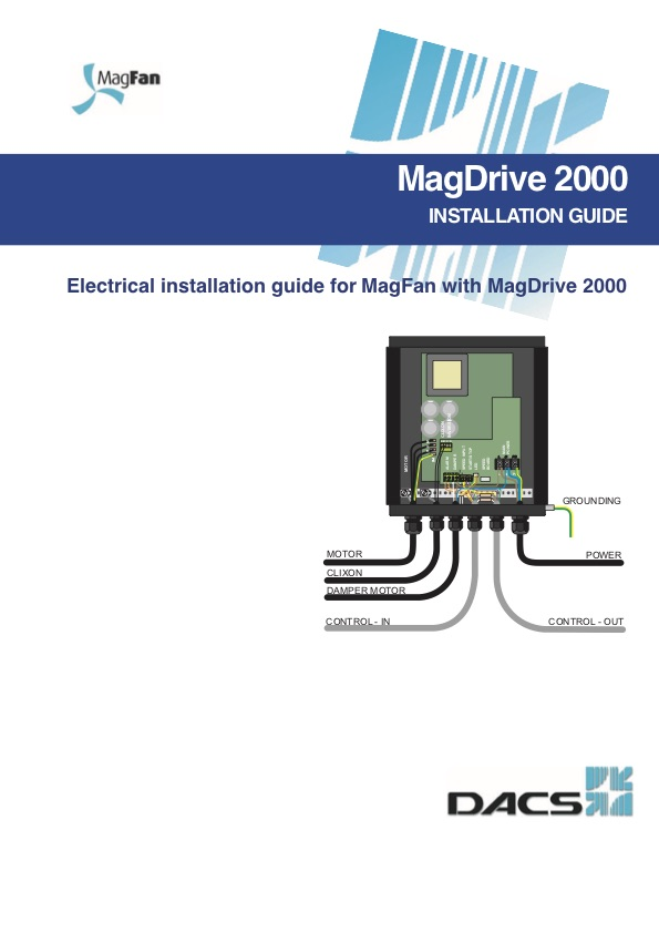 MagDrive 2000 Electrical Installation Guide for MagFan