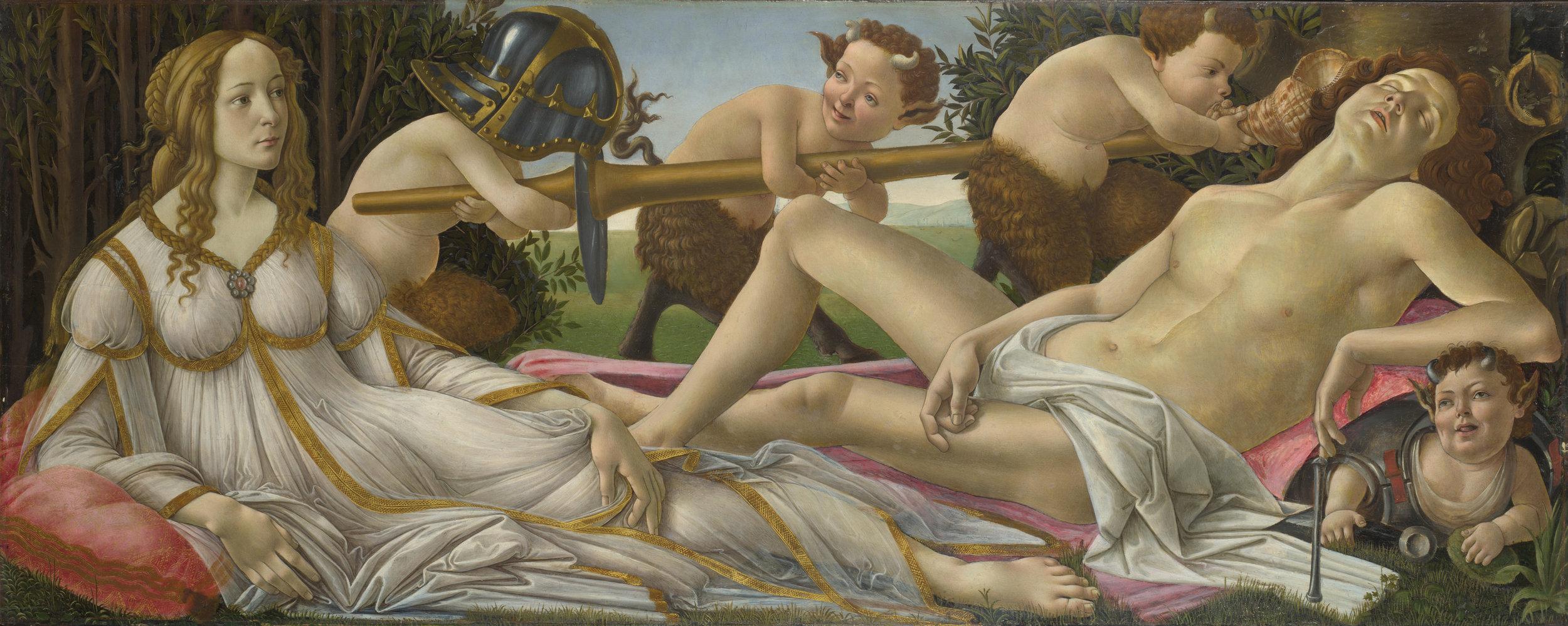 Botticelli's Venus and Mars, circa 1485