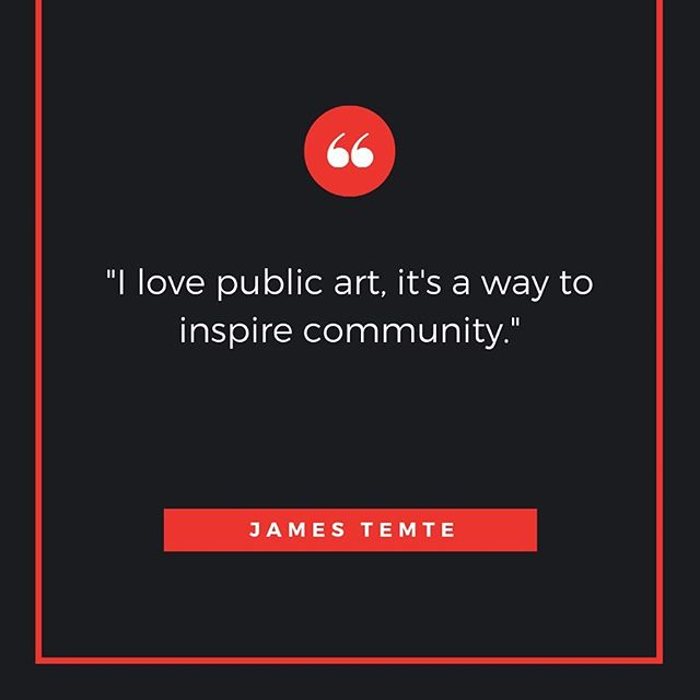 At this week's @1millioncups Anchorage, we heard from two guest speakers, Alice Glenn of the @coffeeandquaq podcast and artist James Temte. Temte spoke about his artwork, his process and the benefits of public art.