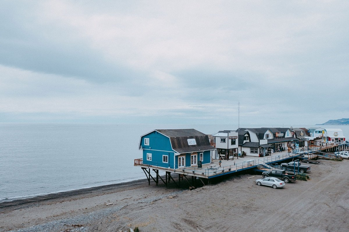 Alaska Salt Co.'s shop on the Homer Spit, fit with a retail space and three rooms available for rent. (Photo courtesy of Alaska Salt Co.)