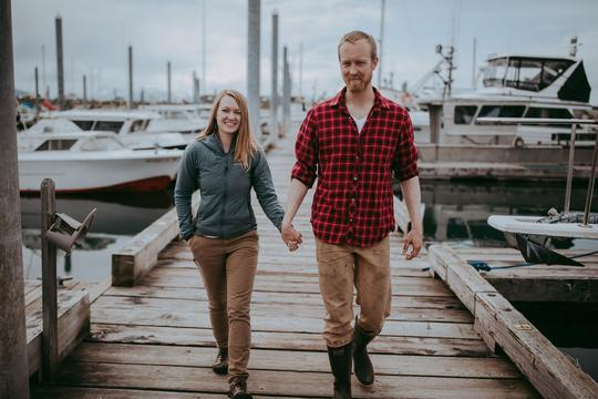 Britni and Casey Siekaniec, owners of Alaska Salt Co. (Photo courtesy of Alaska Salt Co.)