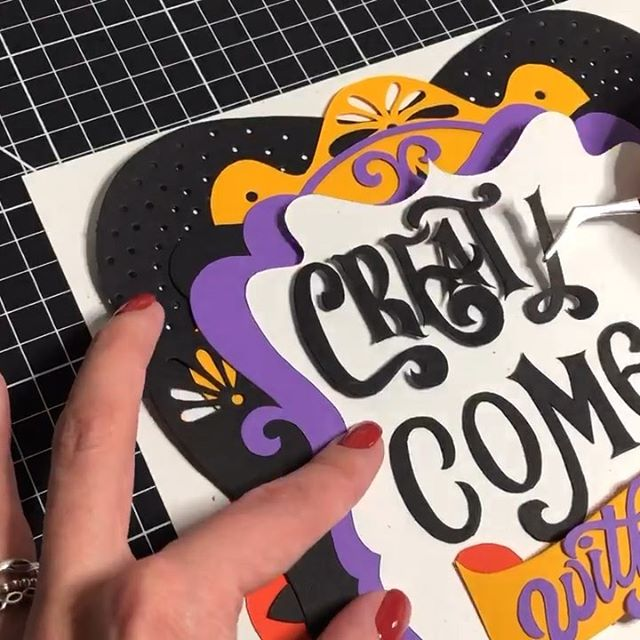 SOUND ON - I am still chilling in the heat with my family, but I thought I'd post this remade video. I haven't created anything in almost three weeks, and I am having an itch, but at the same time totally enjoying this break from real life. See you soon with more #totallynutspapercuts . . . #lettering #paperart #papercuts #workingwithhands #showusyourtype #handmadefont #letteringdaily #typegang #goodtype #typism #papercutting #neenahpaper #lovelettering #creativity #video #creativeprocess #veradlettering #type #typewip #needtocreate #lovepaperart #excellblades