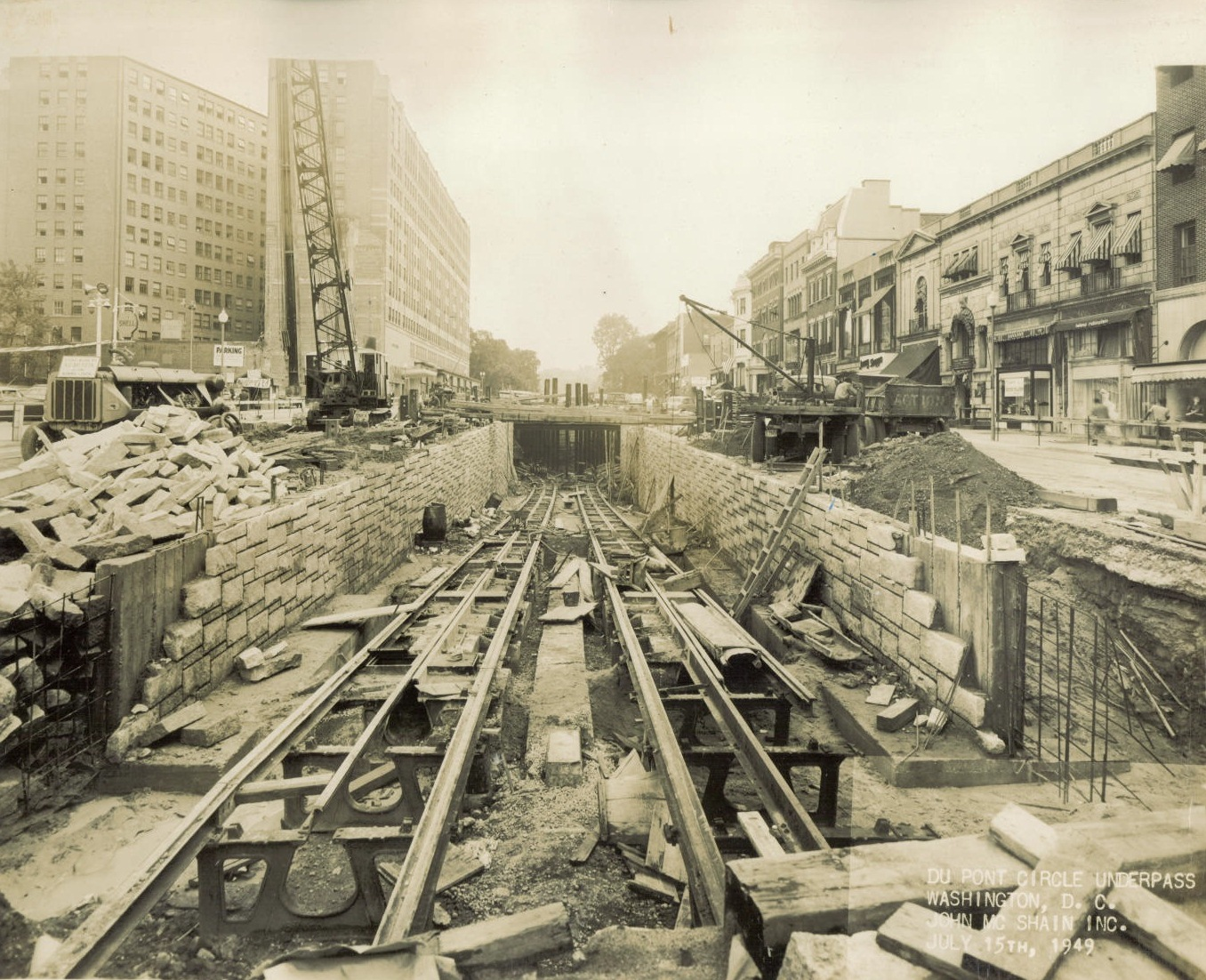 The Dupont underpass on July 15, 1949. Photo:   District Department of Transportation  /Public Domain