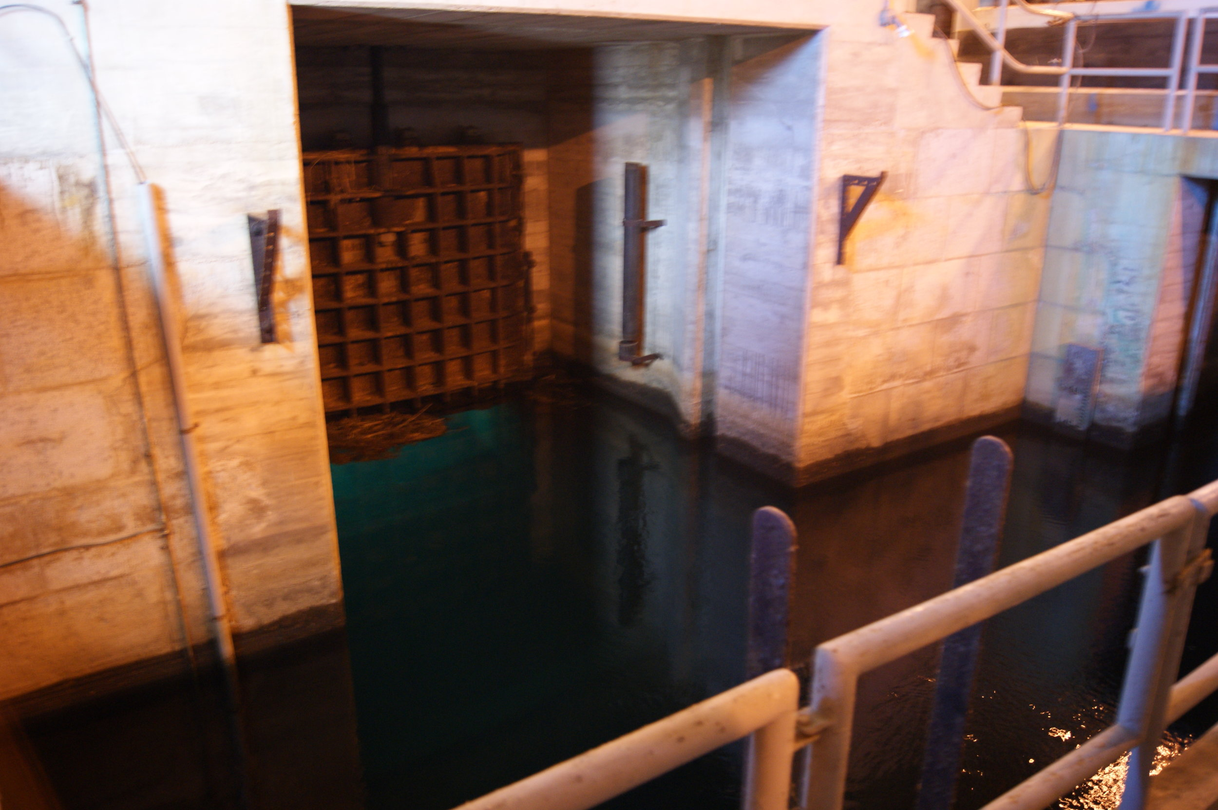 Millions of gallons of water pass beneath the intake gate every day. Photo: Elliot Carter
