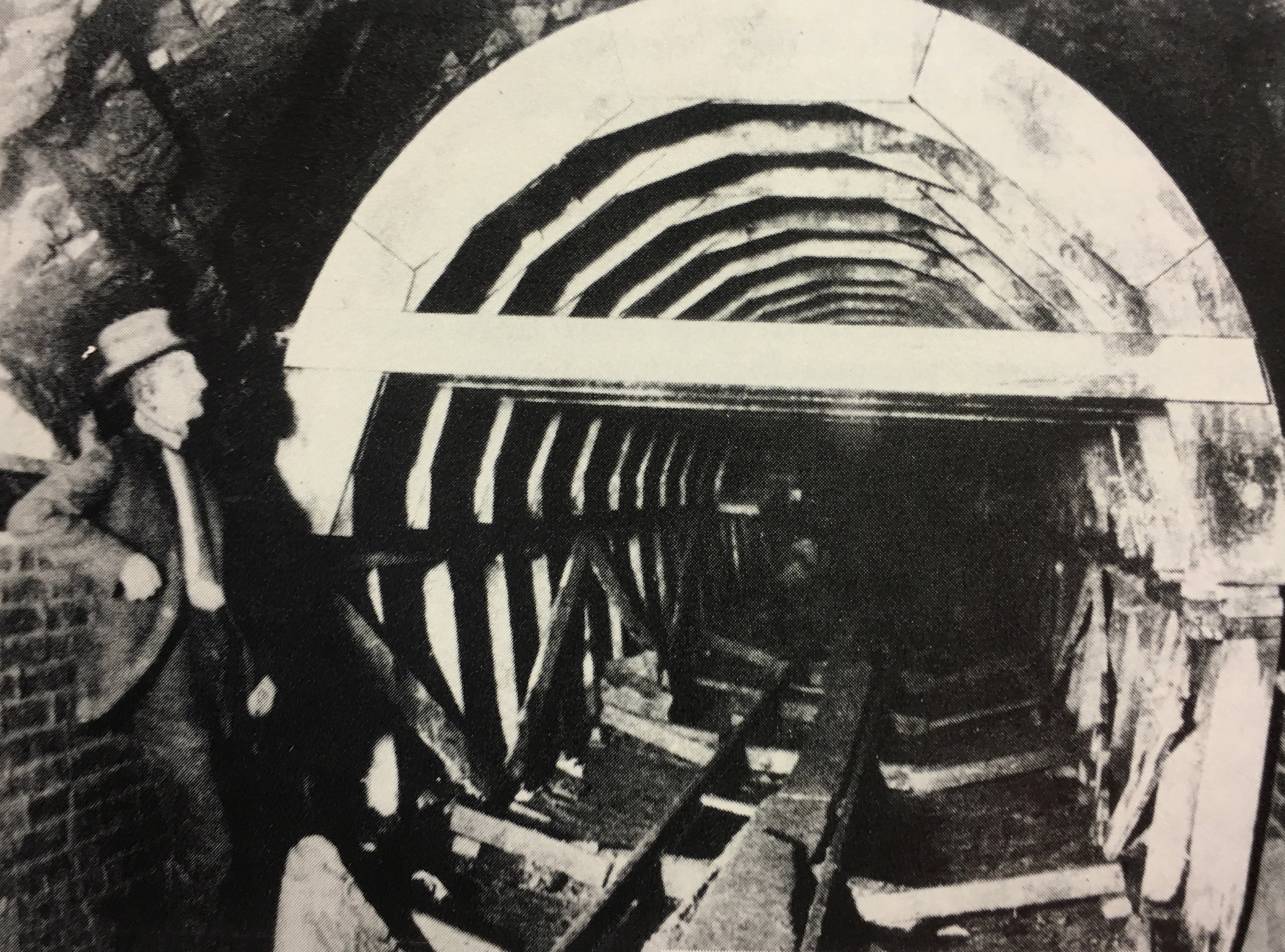 Inspecting the Lydecker Tunnel lining. Photo:  Army Corps of Engineers /Public Domain