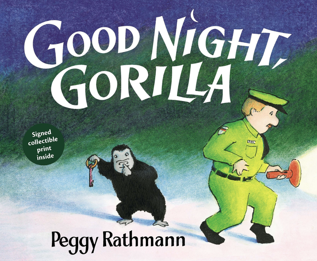 Good Night, Gorilla by Peggy Rathmann - This silly board book is perfect for our youngest children and those with language difficulties. The simple, repetitive writing and dynamic pictures of the mischievous gorilla give simple comprehension cues and opportunities for discussion.